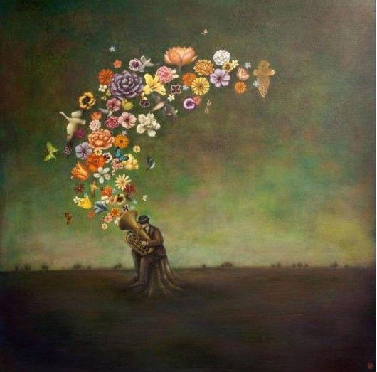 Strange PhenomenaMusic, Artists, Inspiration, Duyhuynh, Illustration, Flower Power, Huynh Art, Painting, Duy Huynh