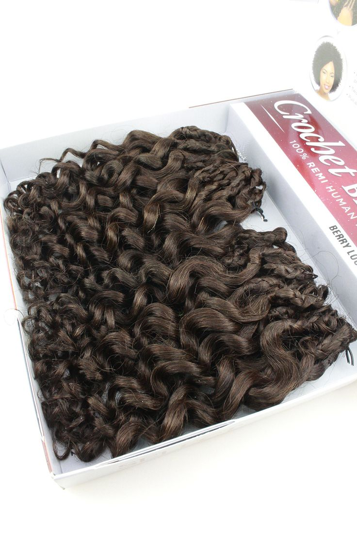 - Description - Qualities - How to Style - About the Brand - Shipping and Returns You can obtain a great natural look with this curly style! The Sensationnel 100% Remi Human Hair Crochet Braids Berry