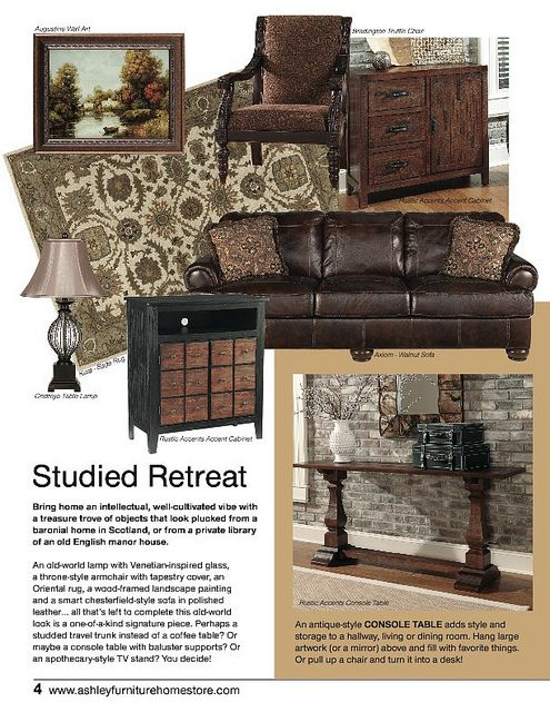 August Trendwatch Ashley Furniture Industrial Chic take on Vintage Casual   Reclaimed woods  aged metals. 575 best Ashley Furniture images on Pinterest   Marketing news