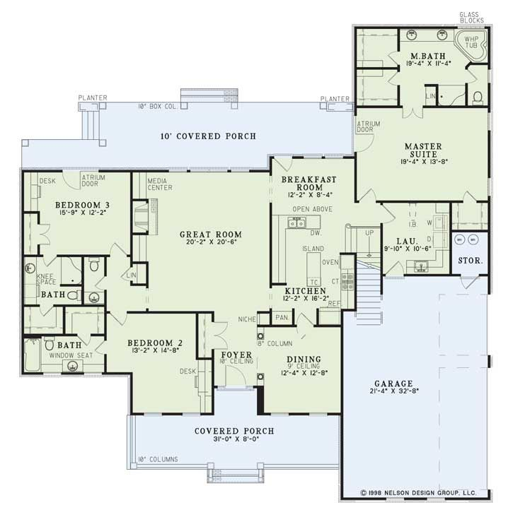 Country Style House Plans 2755 Square Foot Home 2