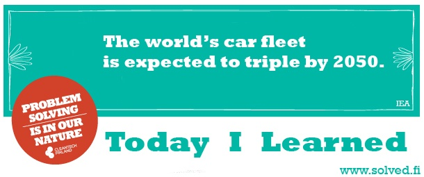 TIL: The world's car fleet is expected to triple by 2050.