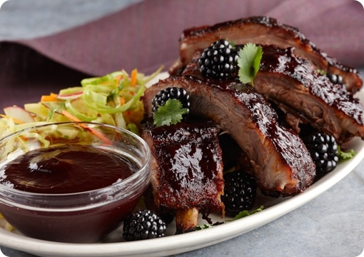 Driscoll's Pork Ribs with Blackberry Chipotle Glaze www.driscolls.com  #driscolls and #sweepstakes