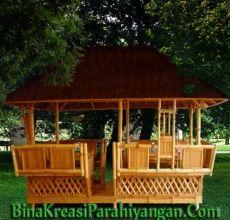 Bina Kreasi Parahiyangan, suplier produk kerajinan bambu, menyediakan produk bambu berkualitas untuk keperluan dekorasi interior Hotel, Rumah, Restoran, Villa dll.  Kamipun melayani jasa pembuatan Rumah Bambu, Villa Bambu, Rumah Makan Bambu, dll.  Kamipun membuka kerjasama dalam menyuplai kebutuhan ekspor Produk Kerajinan Bambu  Diantara Produk yang kami tawarkan adalah: 1. Furniture Bambu 2. Properti Bambu 3. Interior Bambu  Kontak: 0852 2003 2947 BB: 5124 BA0A…