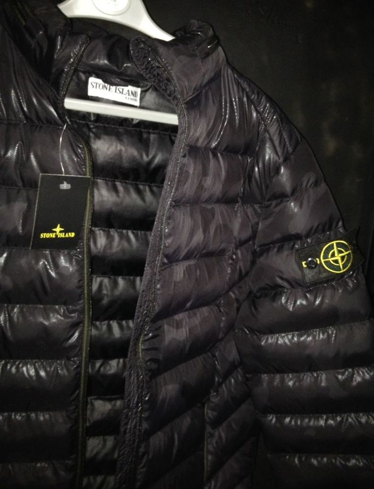 Mens Stone Island Rare Winter Camo Jacket Designer Sportswear - New in condition hasn't been worn. All black patterned camo (see photos). Size : Medium. Colour : Black. | eBay!