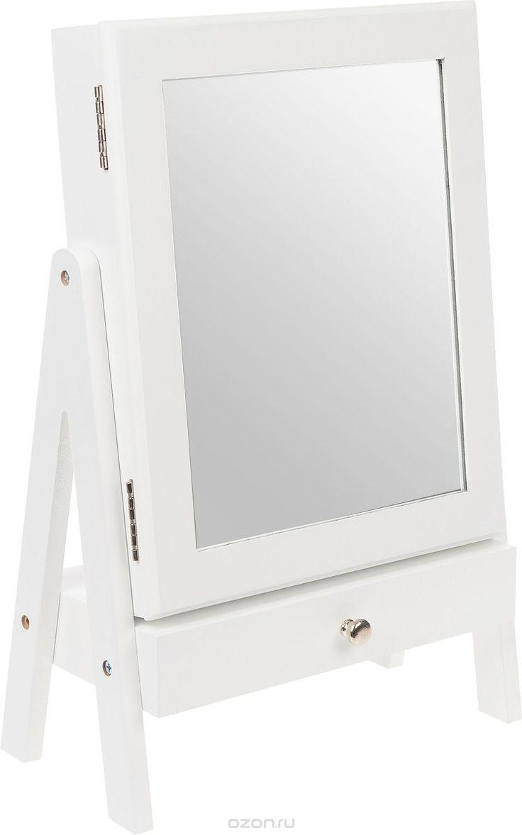 Шкатулка для ювелирных украшений, настольная, цвет: белый. FH-JC0190 - купить по выгодной цене с доставкой. Интерьер от Minhou Phoenix Handicrafts в интернет-магазине OZON.ru