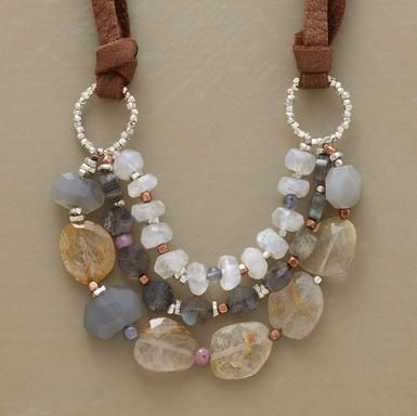 The Sundance ad keeps following me on every site, flashing this necklace at me. It's very cool and I would love to have it, therefore... I shall attempt to make.