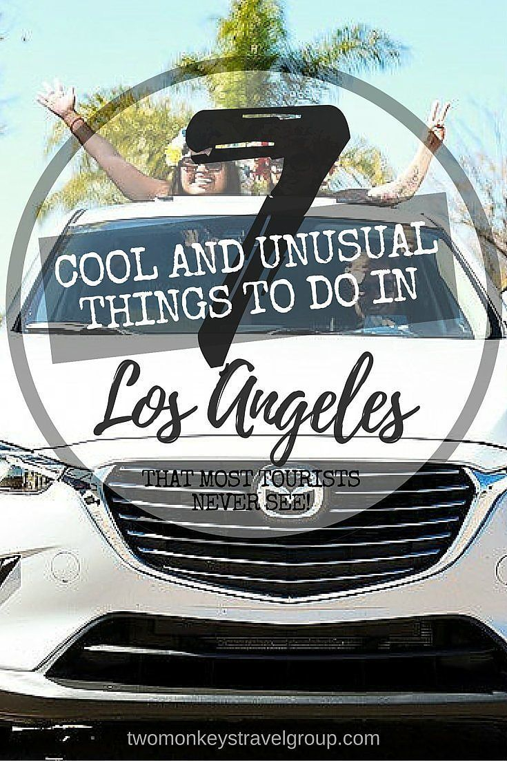 7 Cool and Unusual things to do in Los Angeles that most tourists never see! So much history, so many stories, urban legends and dreams, all marbled together to ensure that will never be a shortage of things to do in Los Angeles. The City of Angels, as the name Los Angeles translates in Spanish, is the home of Hollywood and the birthplace of the American movie scene.