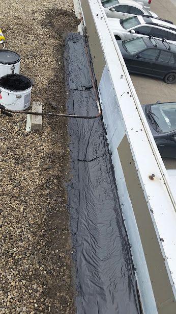 Tar And Gravel Edmonton Flat Roof Repair. Brief Roof Site Report From Our  Edmonton Flat Roof Repair Crew. Repairs To Roof Edge Along Flashing.