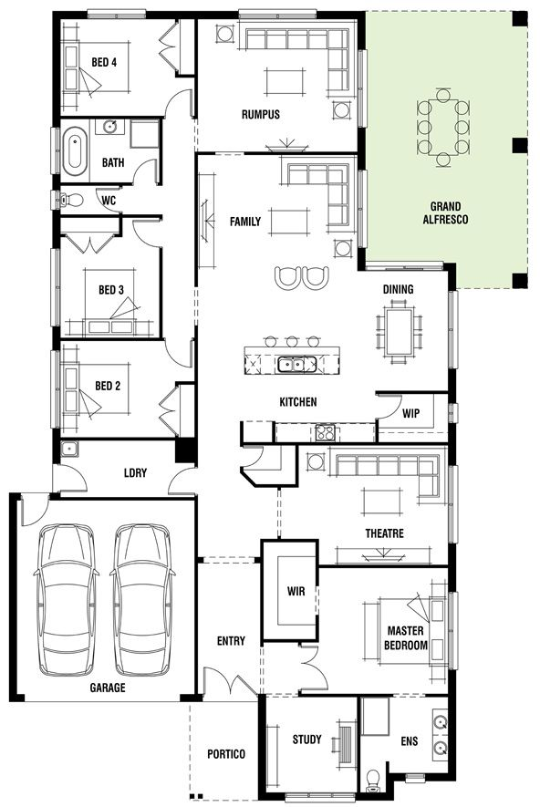 House design canterbury porter davis homes decor Canterbury floor plan