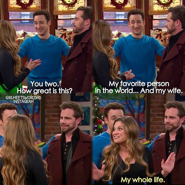 "#GirlMeetsWorld 1x16 ""Girl Meets Home for the Holidays"" - Cory, Topanga and Shawn"
