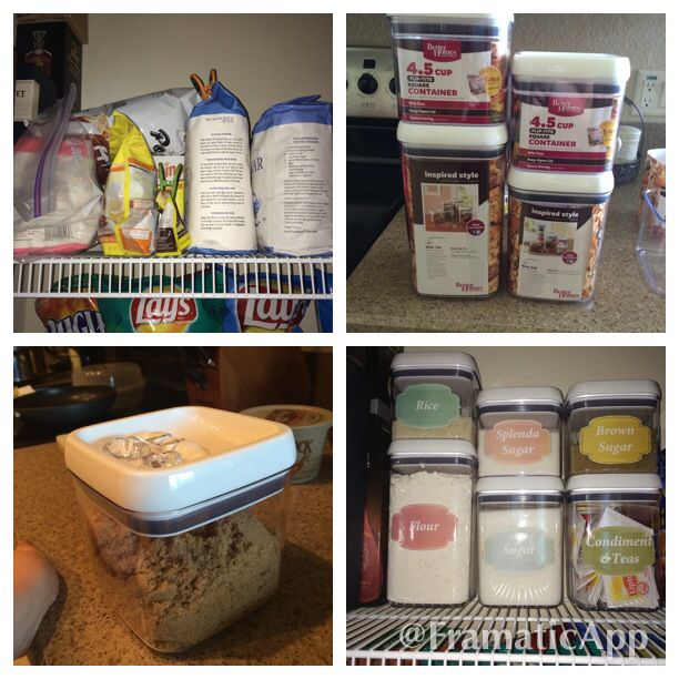Kitchen Pantry Organization Before And After I Picked Up A Couple Better Homes And Gardens