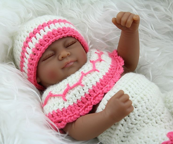 29.96$  Watch here  - 12 inches Full Body Silicone Reborn Baby Dolls Mini For Sale Reborn Sleep Realistic Handmade Baby Girls with Clothes Accessories