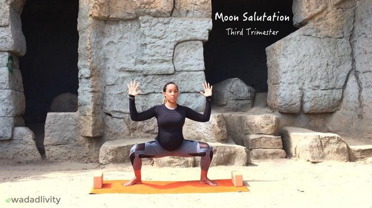 Prenatal Moon Salutation (Third Trimester)
