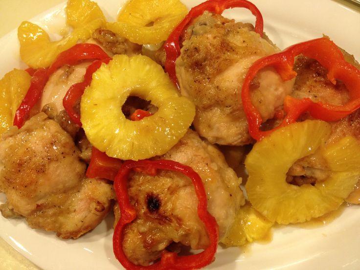 luau chicken recipe image | Pineapple 'Luau' Chicken - perfect for a potluck! #giadaspotluck
