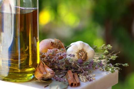 Greek essentials: virgin #oil, onion, garlic