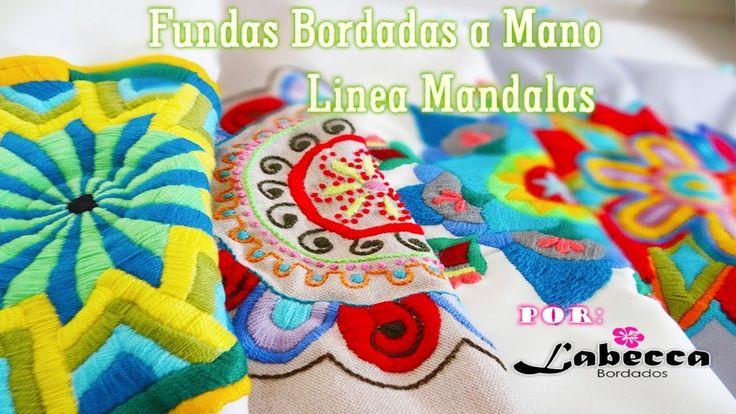STOP MOTION | Cojines Bordados a Mano Linea Mandalas, Animación by Labec...