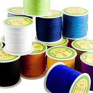 I love their selection of Chinese Knotting cord! Perfect for micro-macrame and stringing. baublesandbeads.com