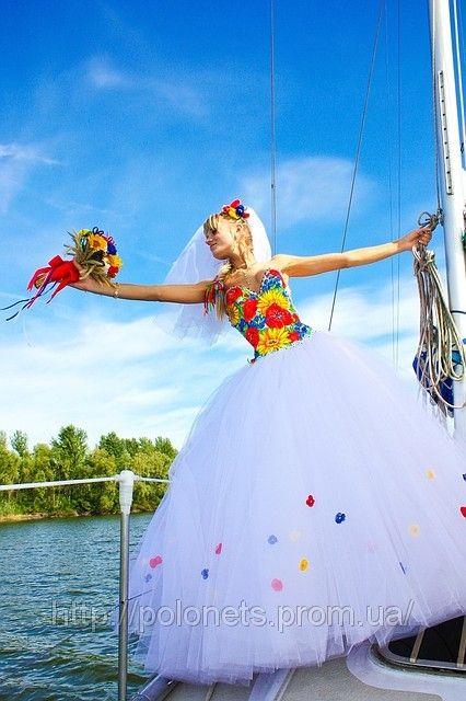 Свадебное платье в украинском стиле., фото 1