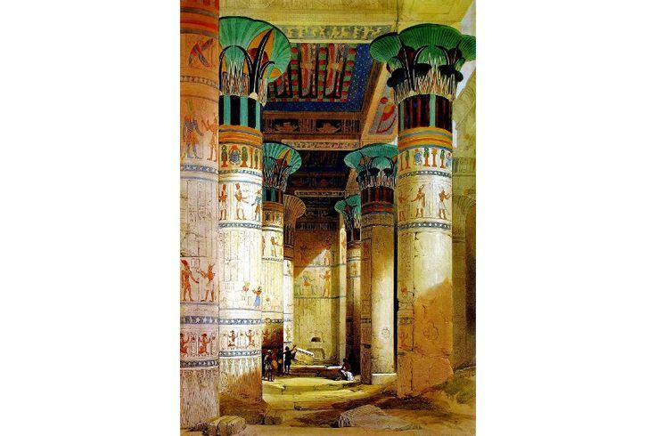 La pintura Orientalista fue una corriente pictórica nacida a mediados del siglo XIX, fue con la colonización y descubrimiento del Oriente Medio que Europa se fascinó por otra civilización, ajena a la suya, donde la sensualidad, el colorido y el exotismo atrajeron a pintores europeos. Medidas del papel acuarela: 39cm x 49cm