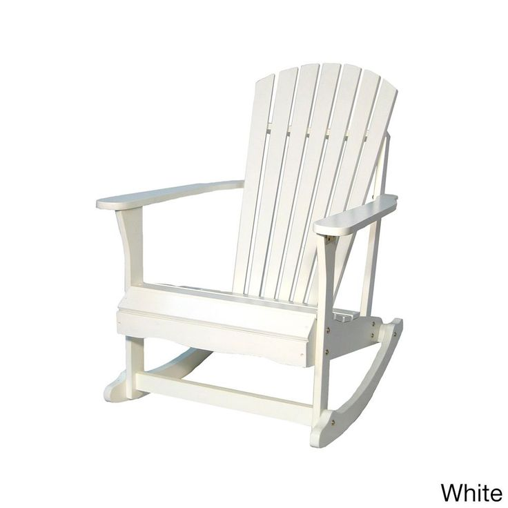 Ready to assemble, this Adirondack rocker is the ideal addition to your outdoor decor. Available in several lovely finishes, this rocking chair is built with solid acacia wood for durability.