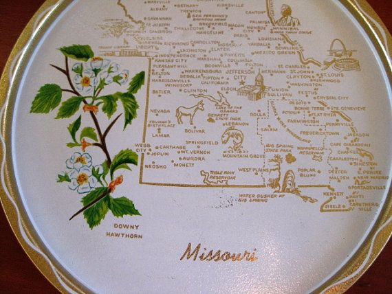Vintage Missouri State Souvenir Tray Very Good by ChinaGalore