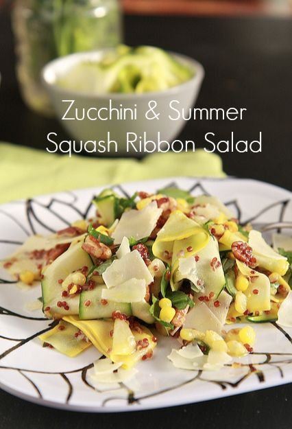 Zucchini & Summer Squash Ribbon Salad by @Matt Nickles Nickles Valk Chuah Noshery