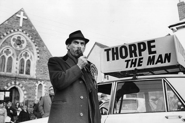 uk 1974: Leader of the Liberal party Jeremy Thorpe