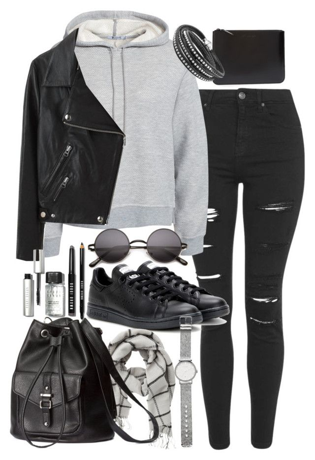 """Outfit for university with a leather backpack"" by ferned ❤ liked on Polyvore featuring мода, Topshop, T By Alexander Wang, Comme des Garçons, Acne Studios, adidas, VILA, H&M, Bobbi Brown Cosmetics и Witchery"