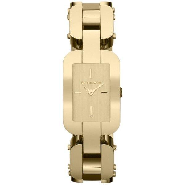 Michael Kors Watch, Women\u0027s Brit Gold Tone Stainless Steel Link... ($180