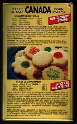 Argo cornstarch recipes cookies