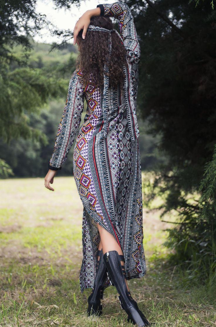 Vestido Kango Tupi Shakti  Detalhe costas.  #mundoshakti #shakti #tribes #outonoinverno #moda #estilo #boho #bohochic #gypsy #gypsystyle