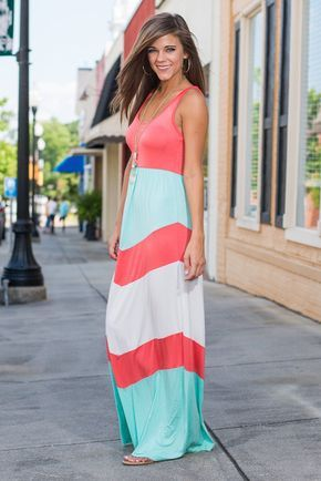 DejaVu What You Love Maxi Dress, Coral