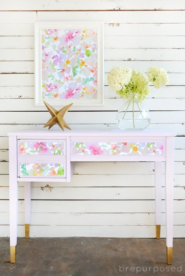 Gasp!  This Pretty Purple Desk is my new obsession and perhaps my favorite makeover by brepurposed (and that's sayin' something).