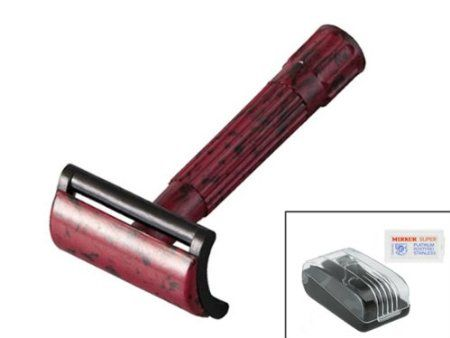 Merkur 45 Bakelite Safety Razor Travel Set - Shaving Razor Travel Cases: Gifts for Men