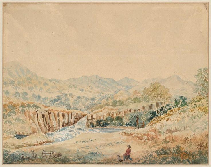 Murrumbidgee River, New South Wales c. 1829 drawn by Robert Hoddle 1794-1881