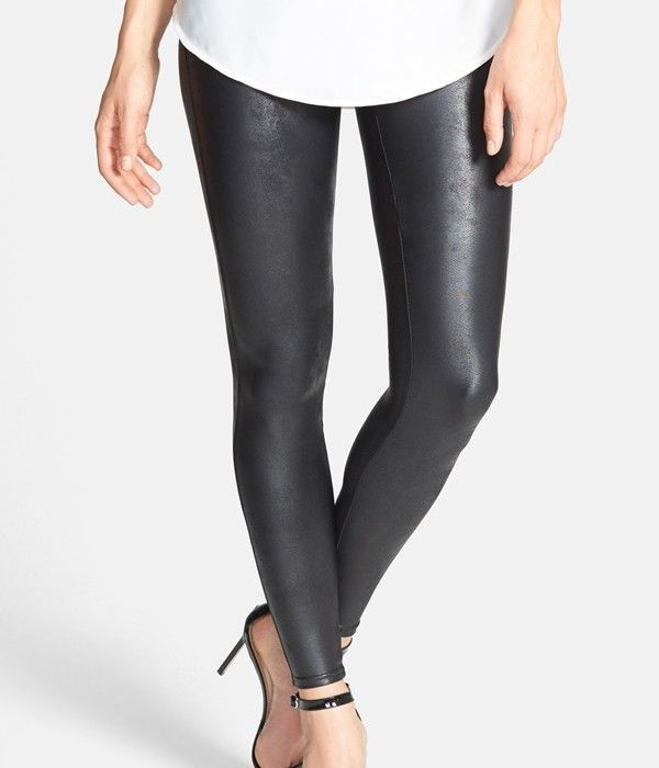 Spanx faux leather leggings. Hot! But not actually hot. (Not real leather. Or real fake leather).