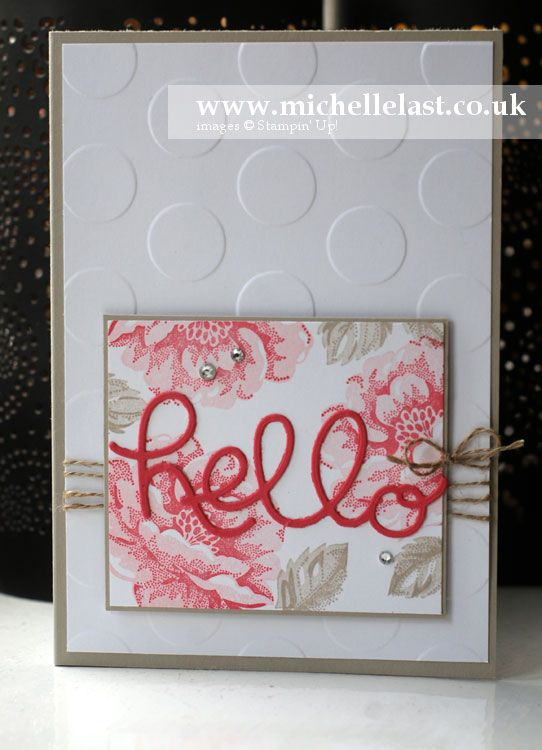 Stippled Blossom from Stampin' Up! - Stampin' Up! Demonstrator Michelle Last