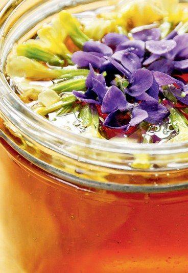 Miel de flores - Flores comestibles: recetas