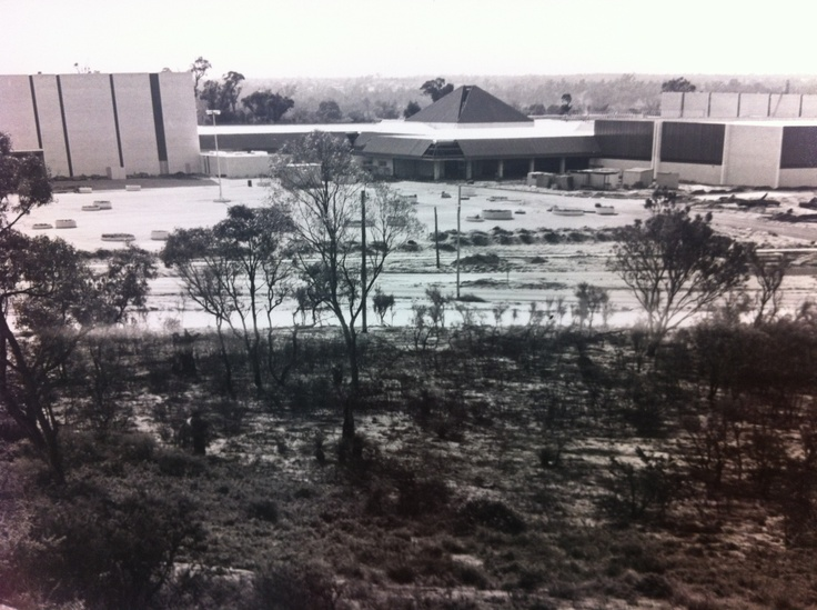Karrinyup Shopping Centre during the initial stages of contruction #karrinyups40thbirthday