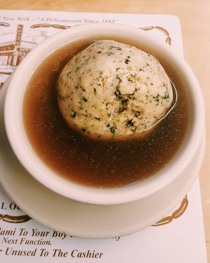 Matzo Ball Soup from Katz delicatessen NYC