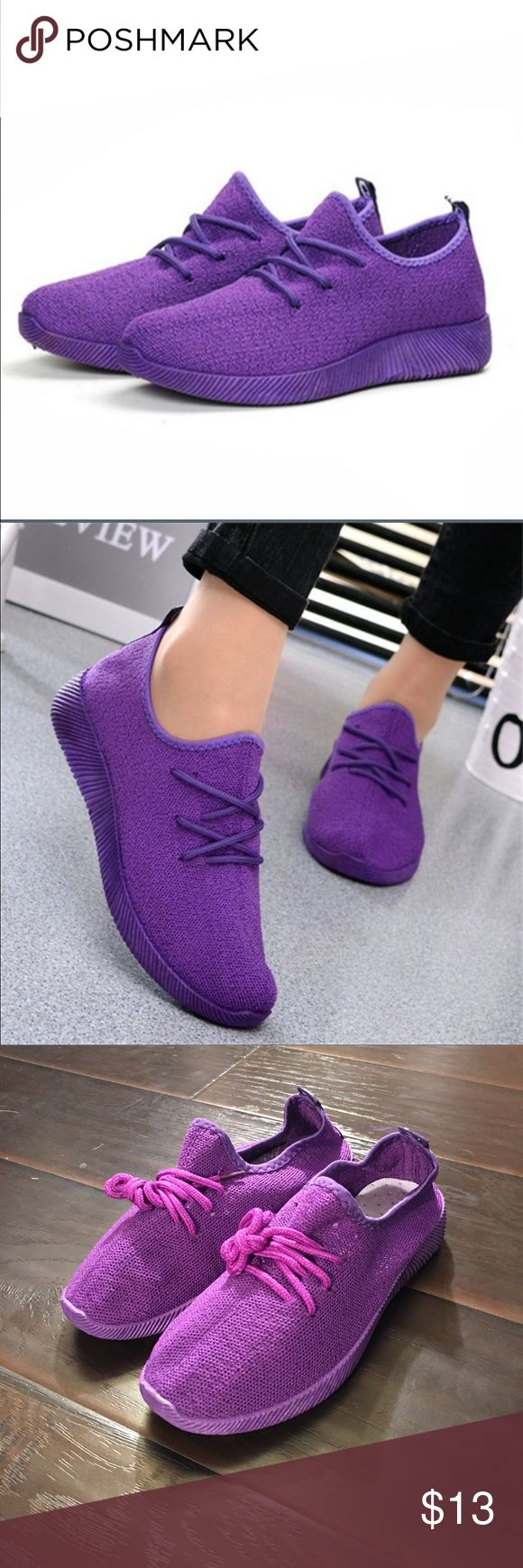 Bright purple sneakers Women's size 7 bright purple sneakers. Brand-new never worn and never walked in. All purple everything. NWT Shoes Athletic Shoes