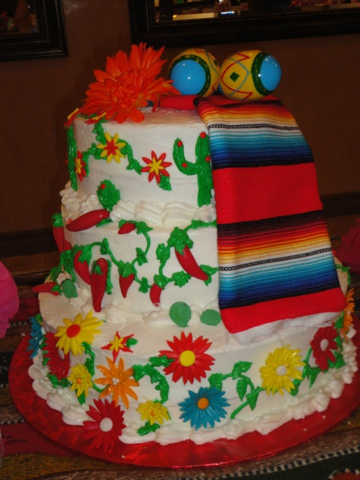 Mexican Birthday Cake In Face