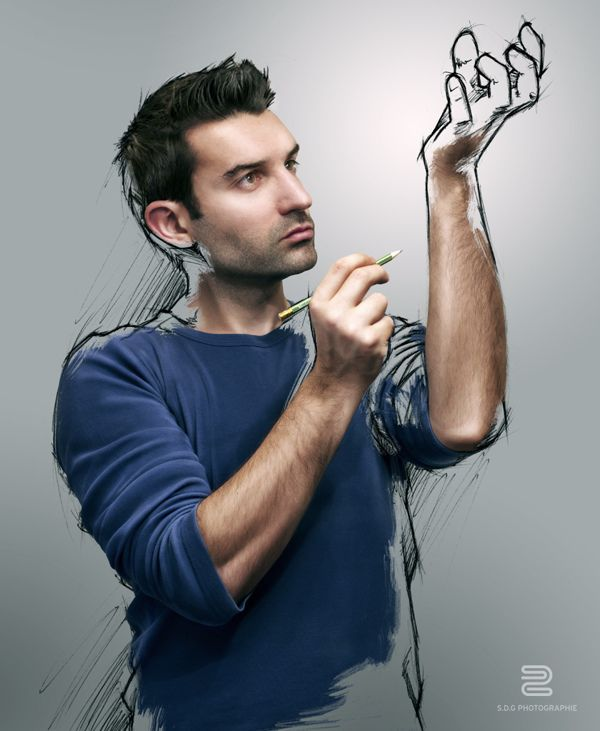 'Sketch the Life' Inspirational Photo Manipulation Project by Sebastien Grosso