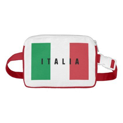 Italian flag of Italy travel fanny pack hip bag - american travel gifts giftideas traveller america