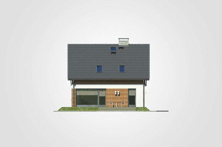 Projekt domu Polo - widok elewacji 3
