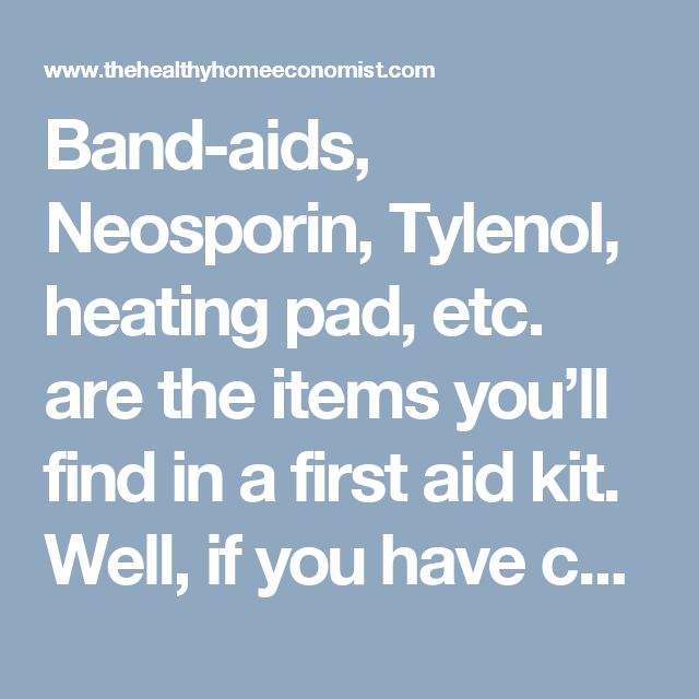 Band-aids, Neosporin, Tylenol, heating pad, etc. are the items you'll find in a first aid kit. Well, if you have children, you're going need a lot more than that!    This is where homeopathy comes into the picture.    As a