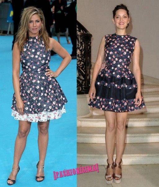 Vestido de Dior: ¿Jennifer Aniston o Marion Cotillard?