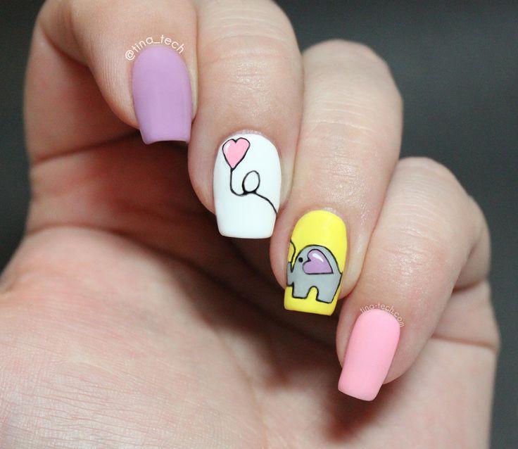 elefant manicure nail art