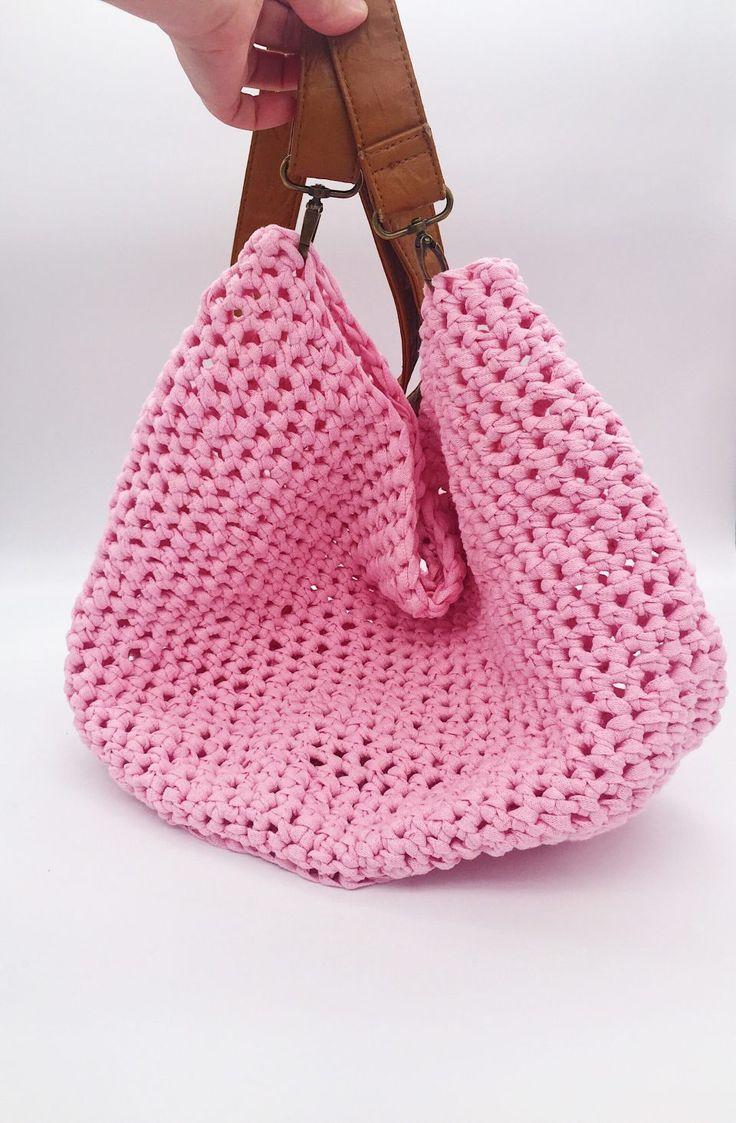 88 besten Taschen Einkaufsnetze Bilder auf Pinterest | Tasche häkeln ...