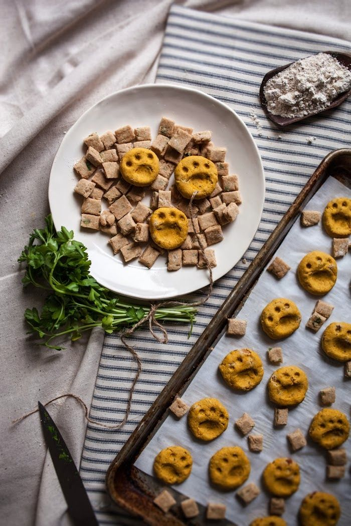 For the Furry ones Pumpkin Bacon & Flax Dog Biscuits